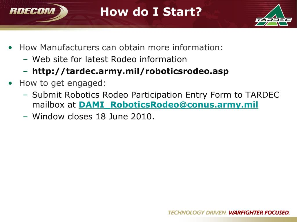 How Manufacturers can obtain more information: