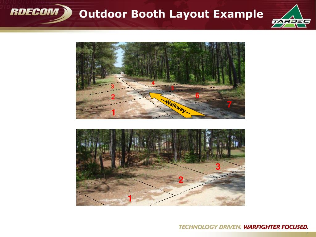Outdoor Booth Layout Example