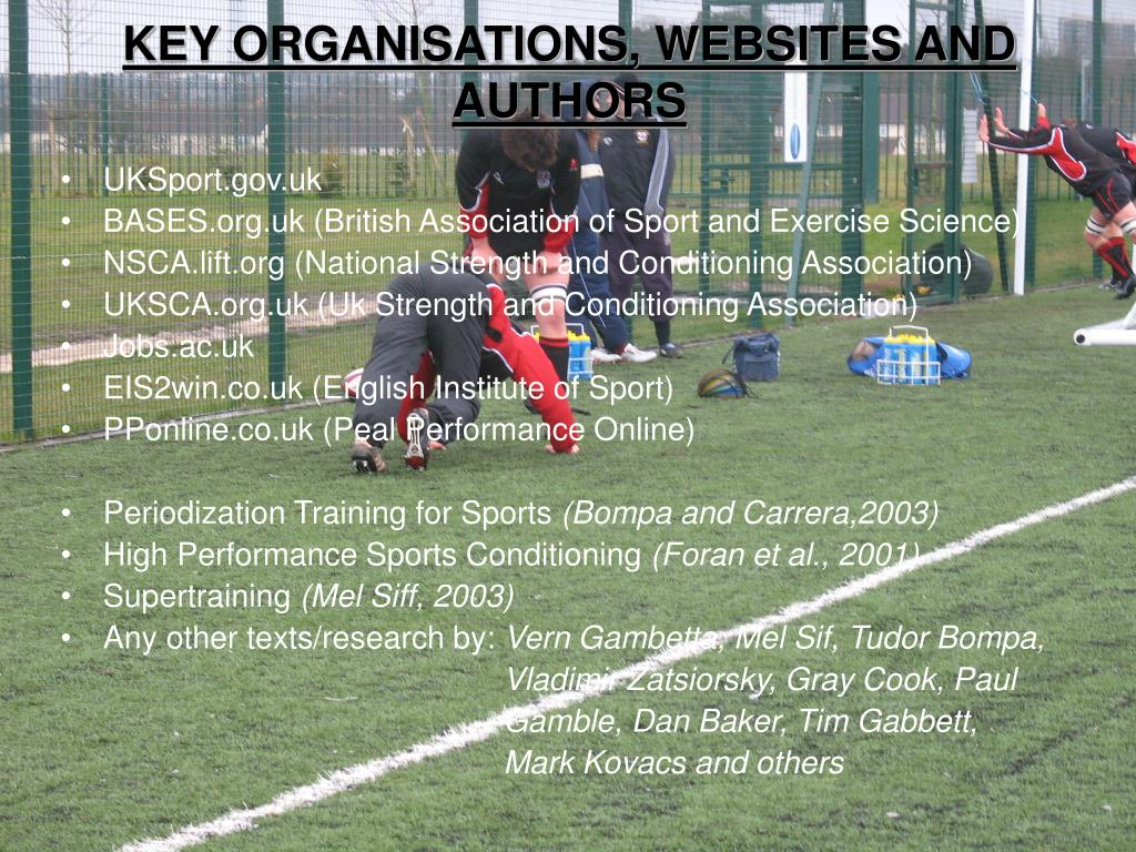 KEY ORGANISATIONS, WEBSITES AND AUTHORS