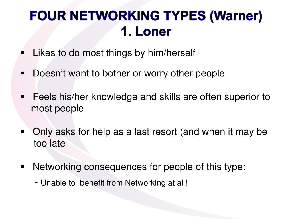 FOUR NETWORKING TYPES (Warner)