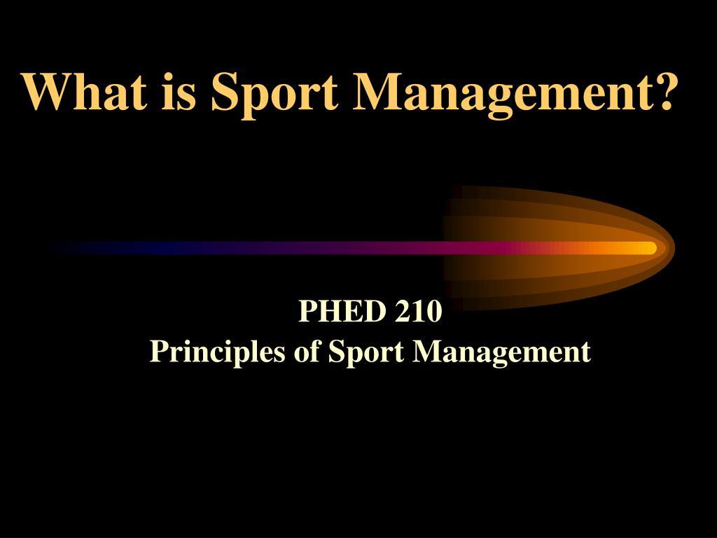 what is sport management l.