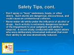 safety tips cont10