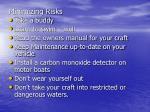 minimizing risks15