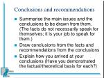conclusions and recommendations17