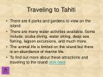 traveling to tahiti
