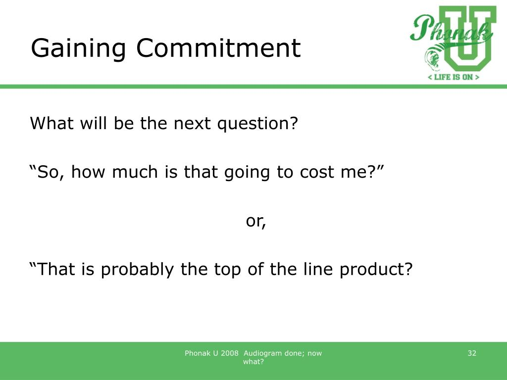 Gaining Commitment