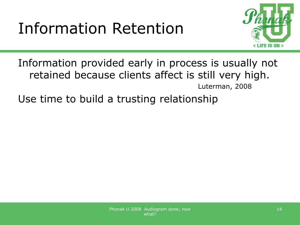Information Retention