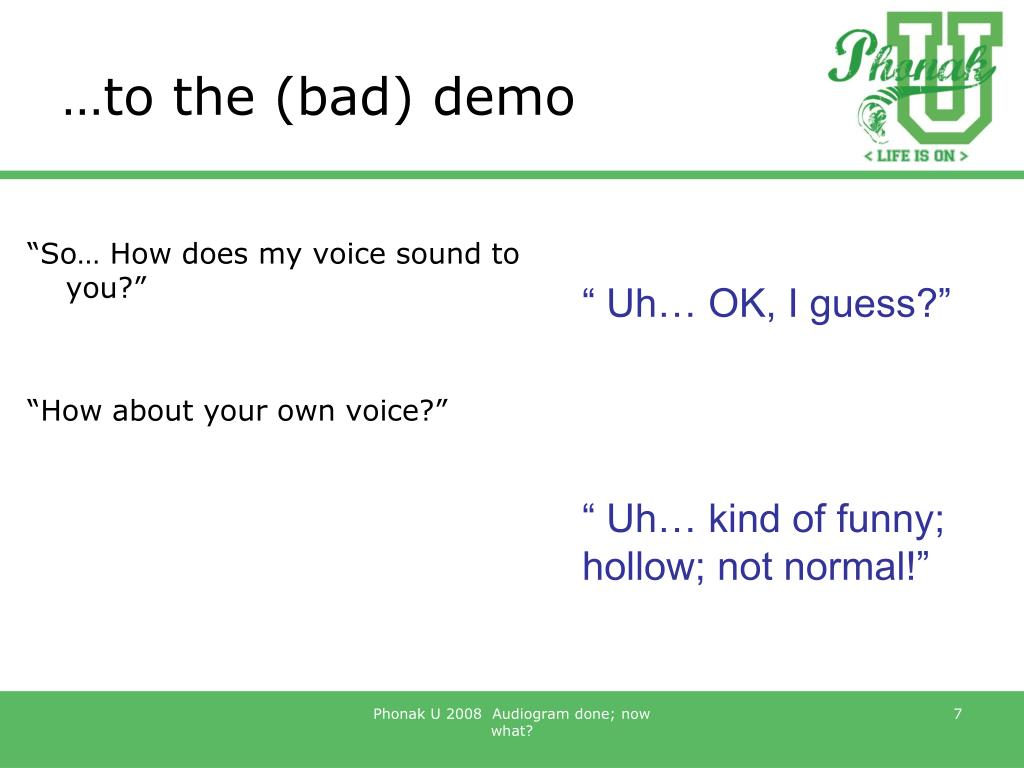 …to the (bad) demo
