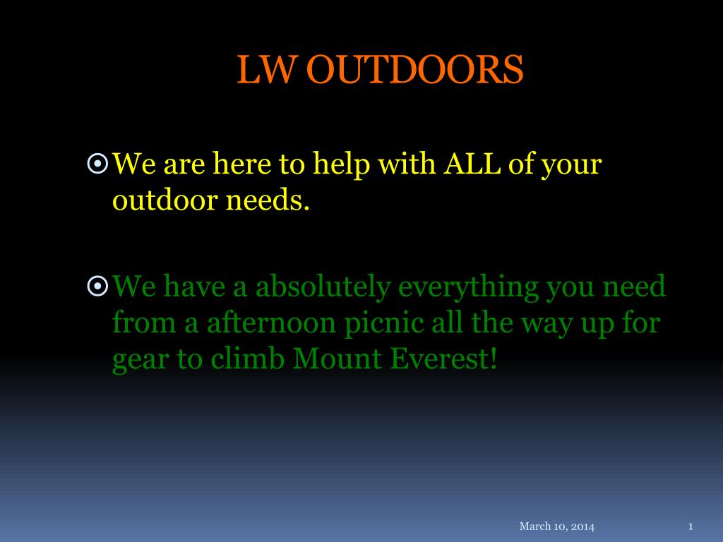 LW OUTDOORS