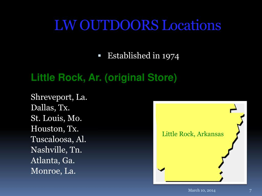 LW OUTDOORS Locations