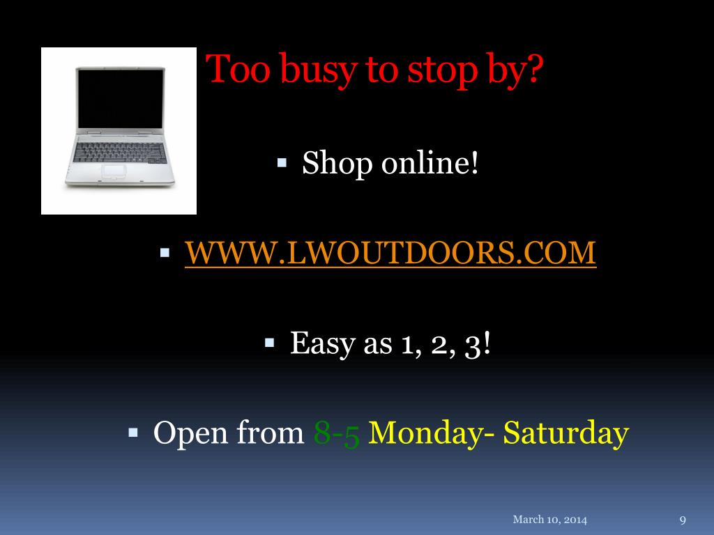 Too busy to stop by?