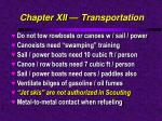 chapter xii transportation