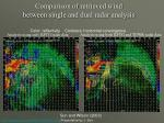 comparison of retrieved wind between single and dual radar analysis