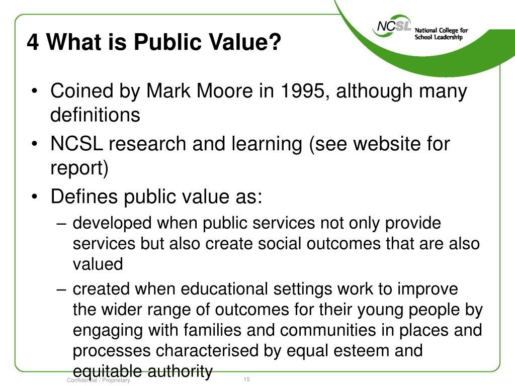 4 What is Public Value?