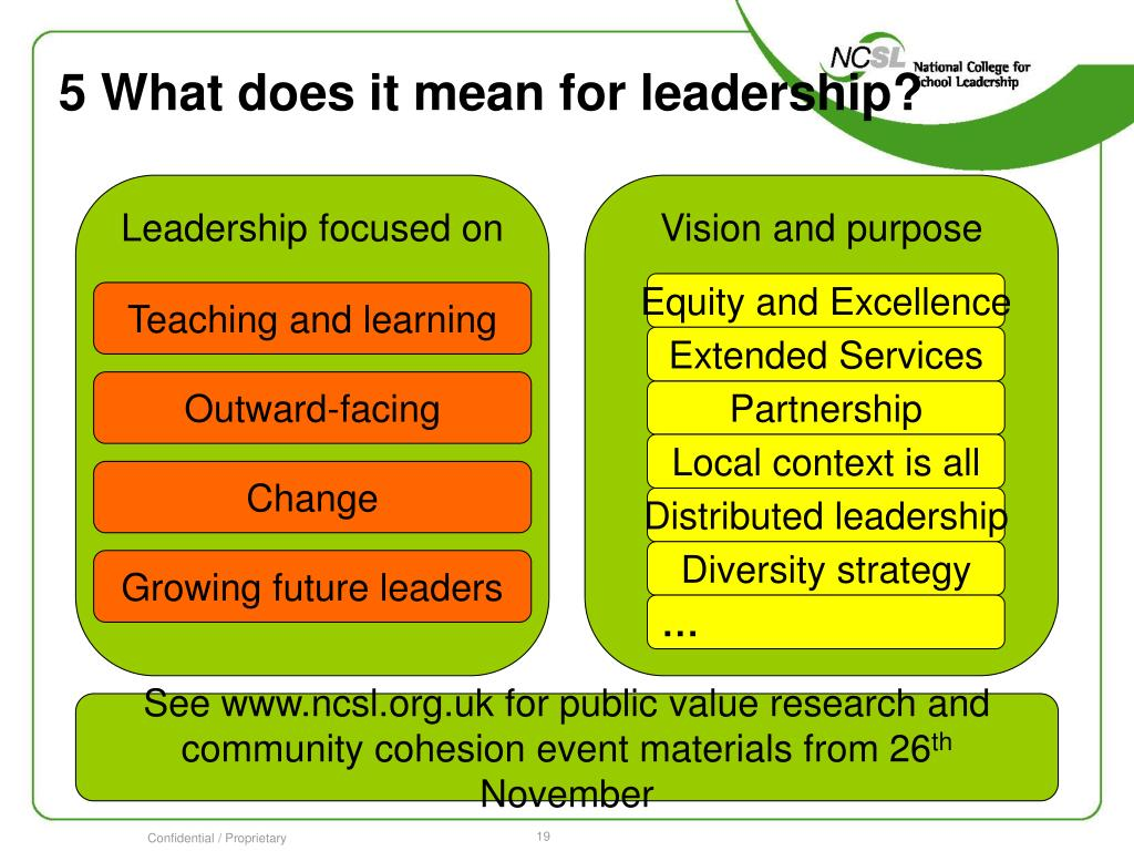 5 What does it mean for leadership?