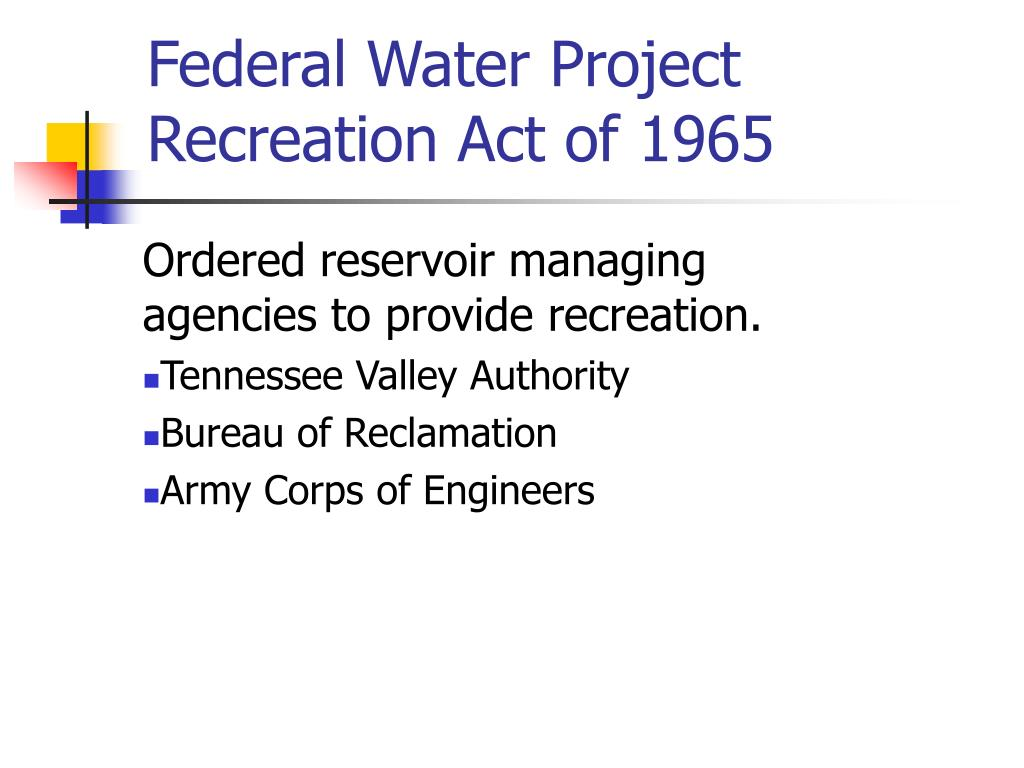 Federal Water Project Recreation Act of 1965