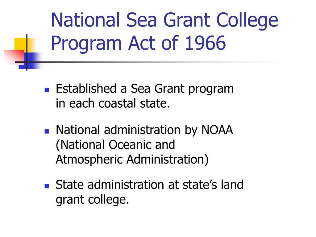 National Sea Grant College