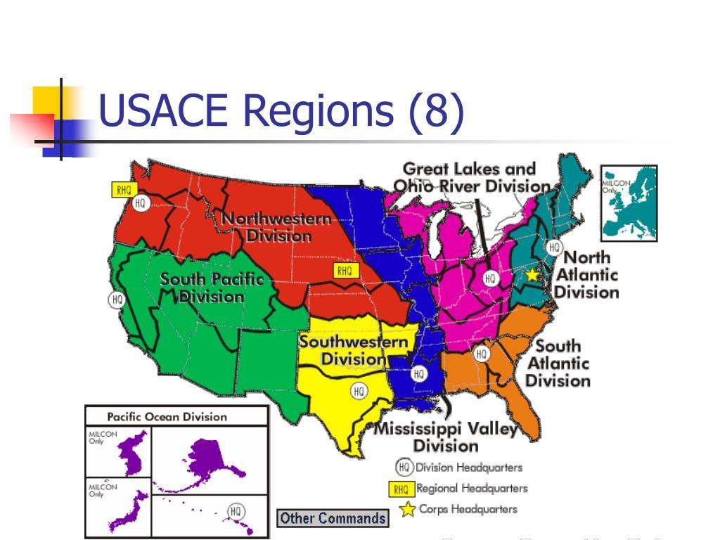 USACE Regions (8)