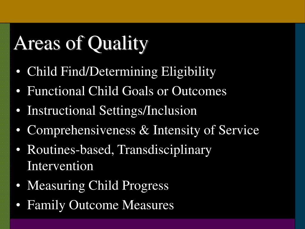 Areas of Quality