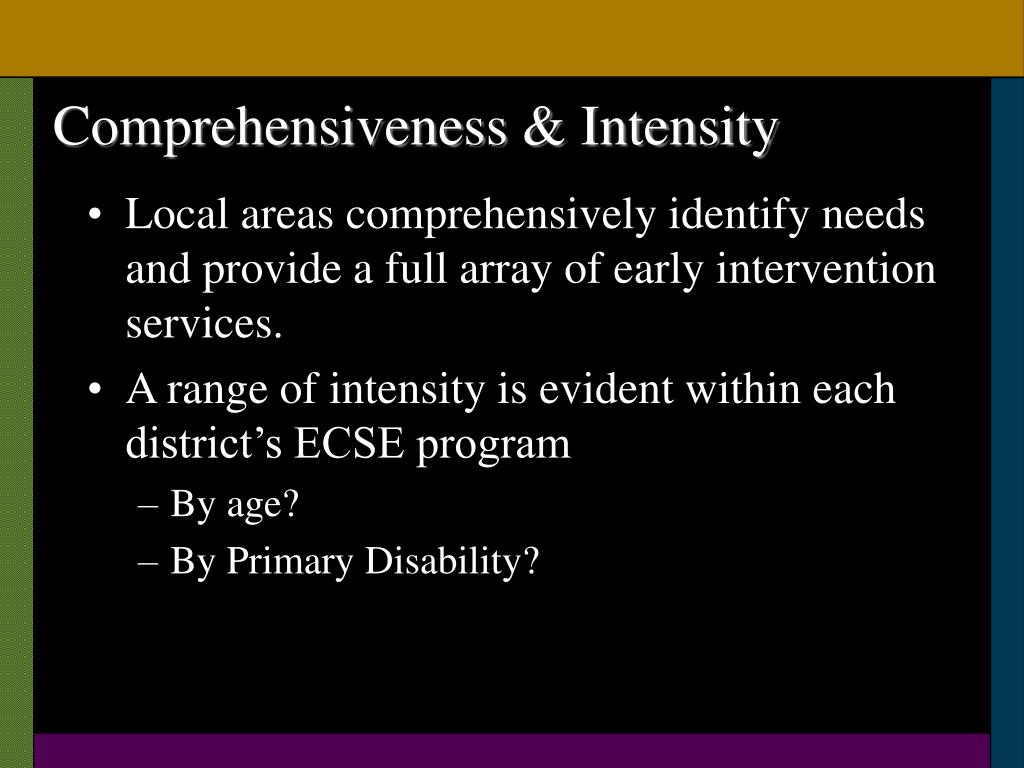 Comprehensiveness & Intensity