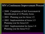 mn s continuous improvement process