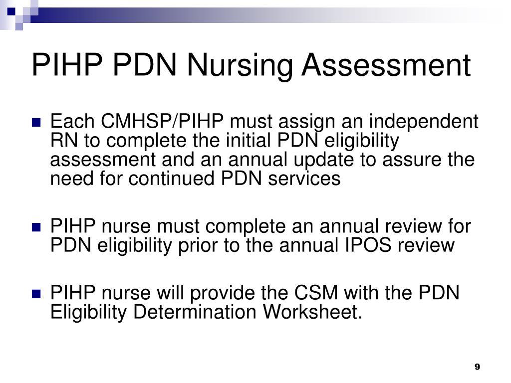 PIHP PDN Nursing Assessment