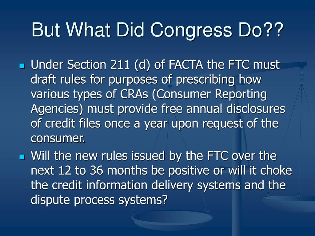 But What Did Congress Do??