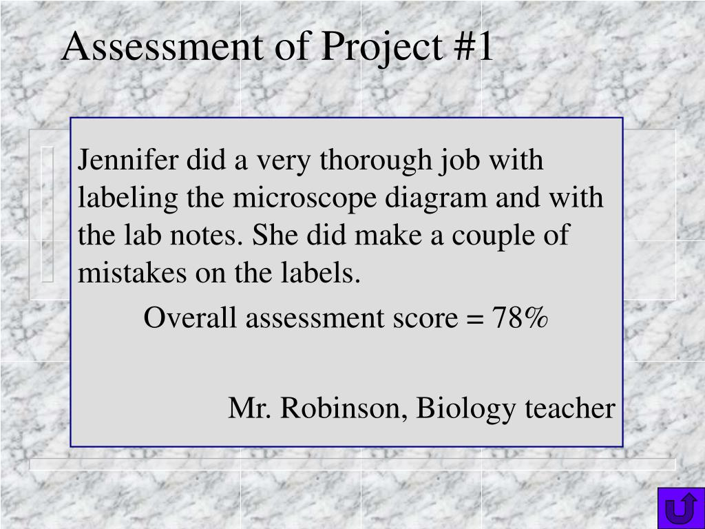 Assessment of Project #1