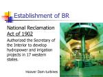 establishment of br