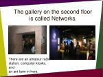 the gallery on the second floor is called networks