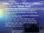 water can have a negative impact on the human body
