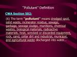 pollutant definition