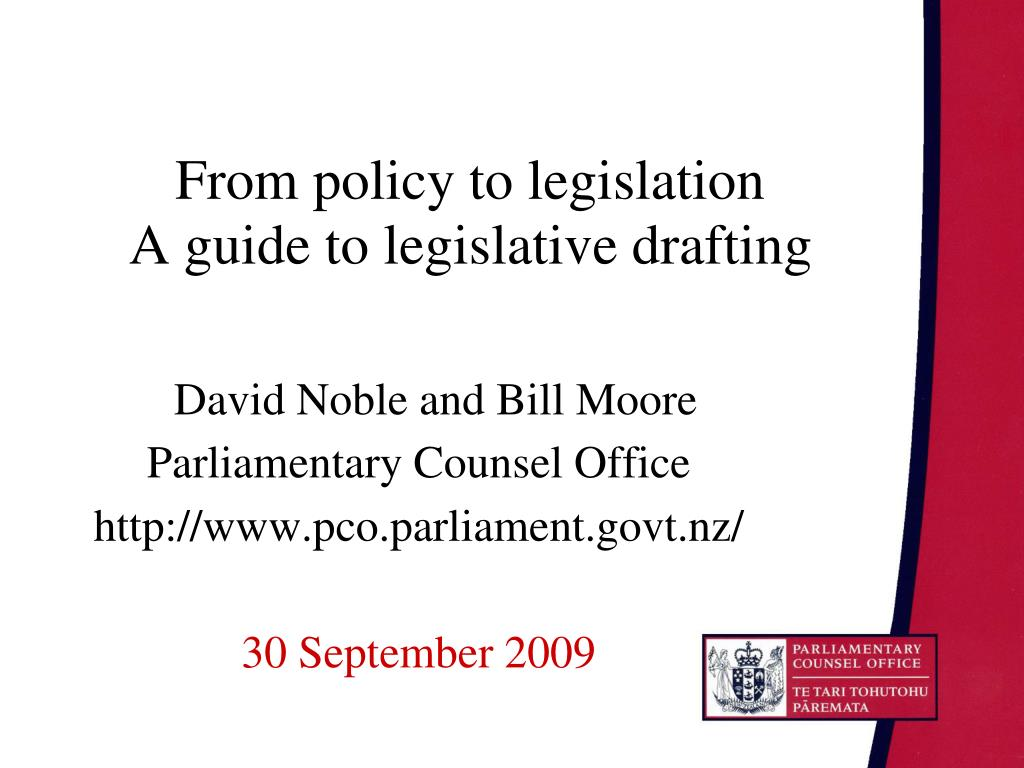 From policy to legislation