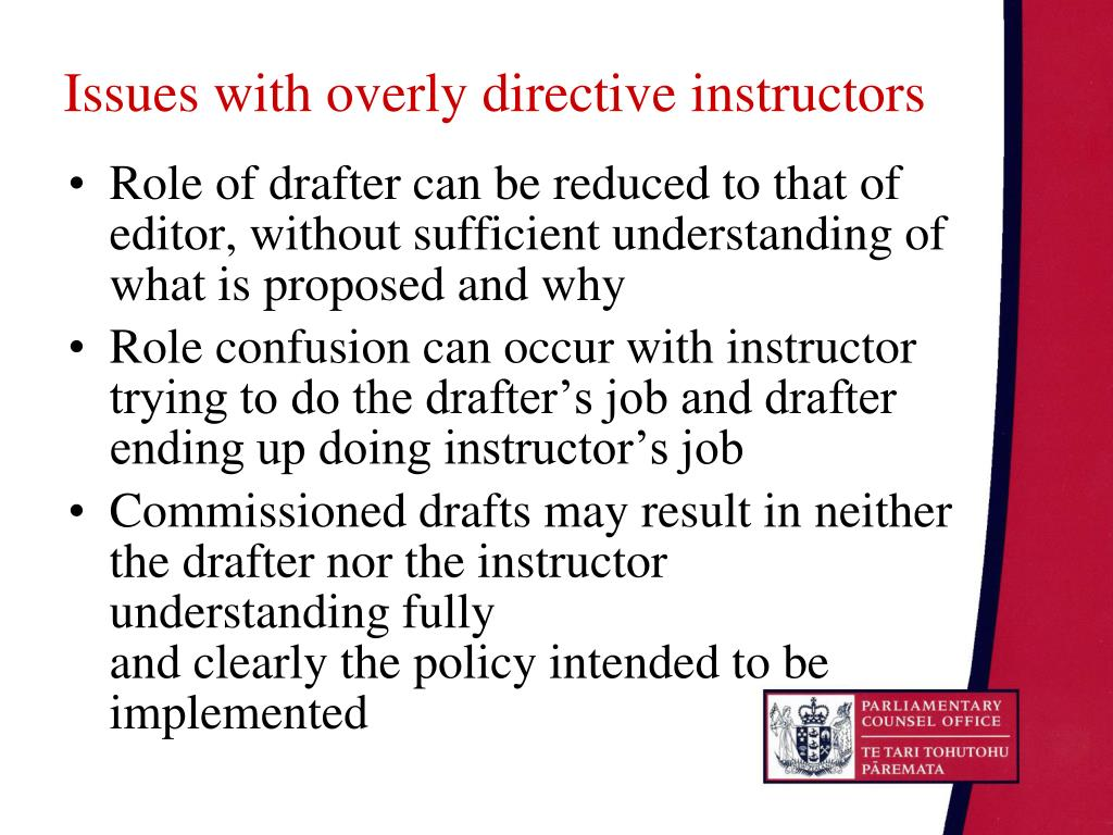 Issues with overly directive instructors