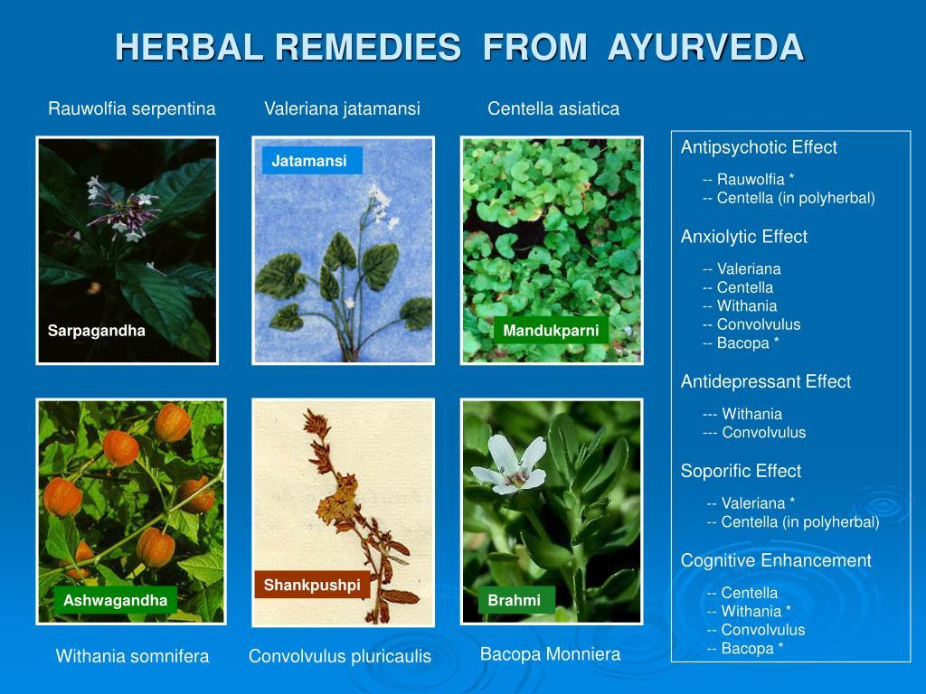 HERBAL REMEDIES  FROM  AYURVEDA