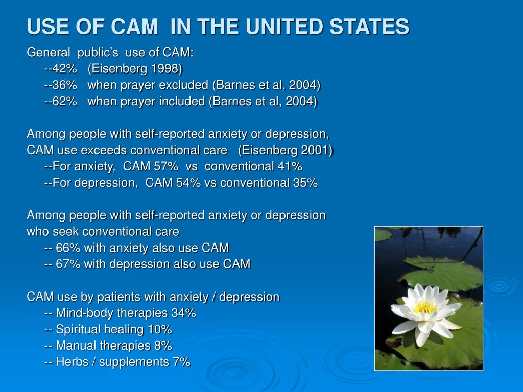 USE OF CAM  IN THE UNITED STATES
