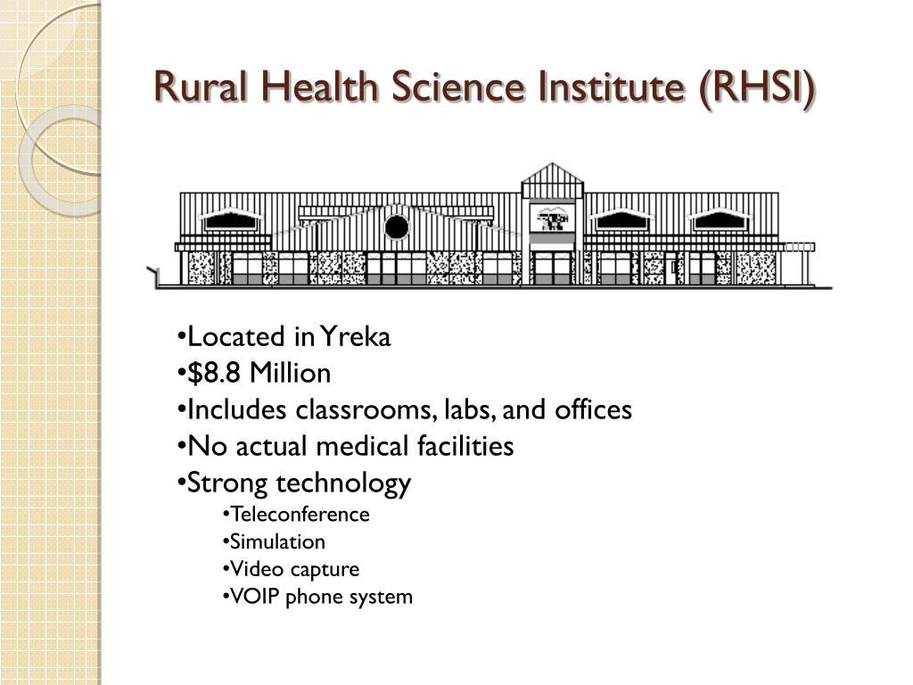 Rural Health Science Institute (RHSI)