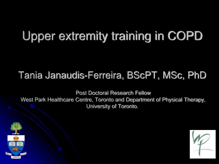 Upper extremity training in COPD