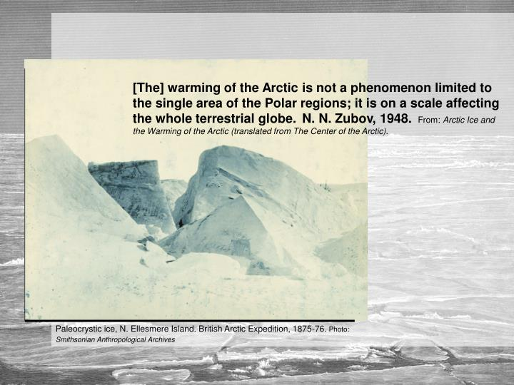 Paleocrystic ice, N. Ellesmere Island. British Arctic Expedition, 1875-76.