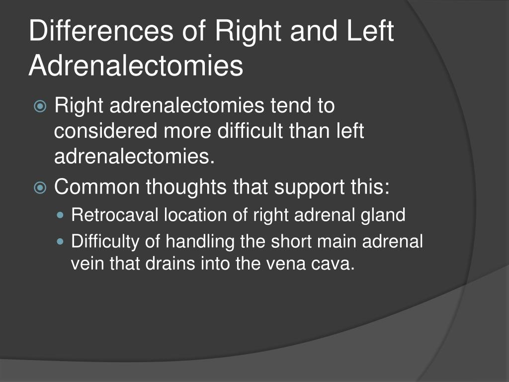 Differences of Right and Left