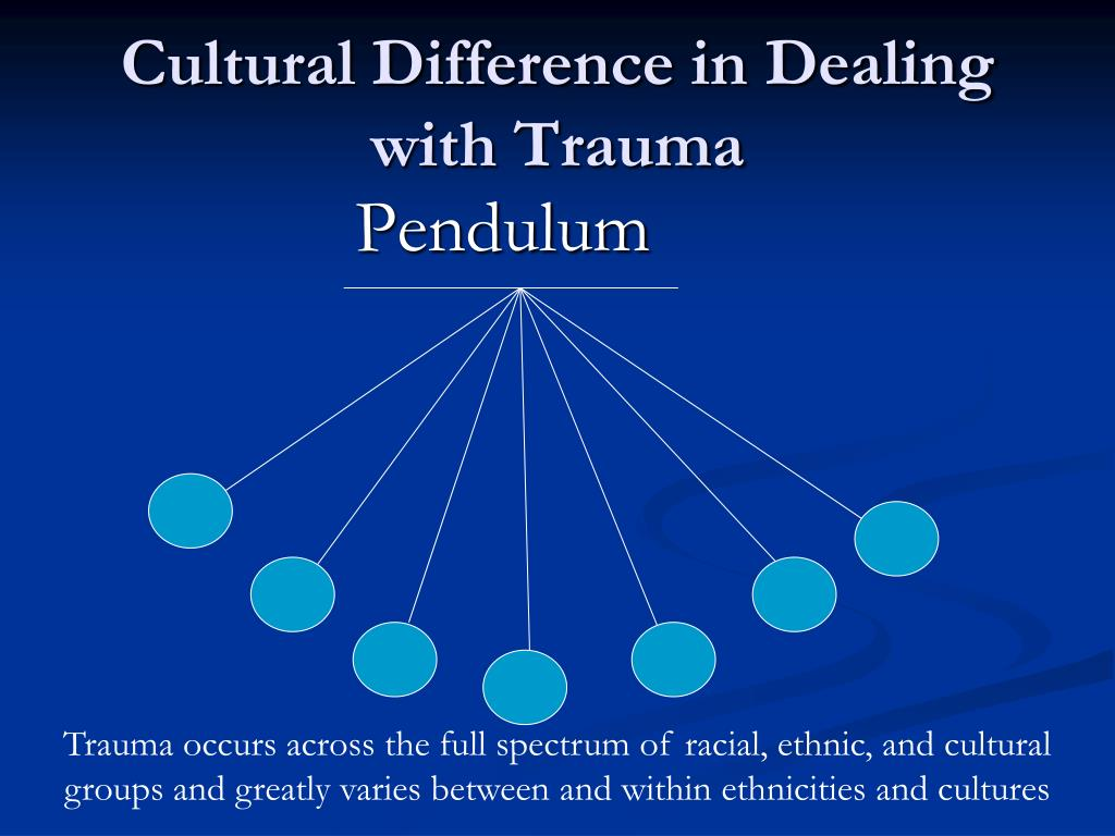 Cultural Difference in Dealing with Trauma