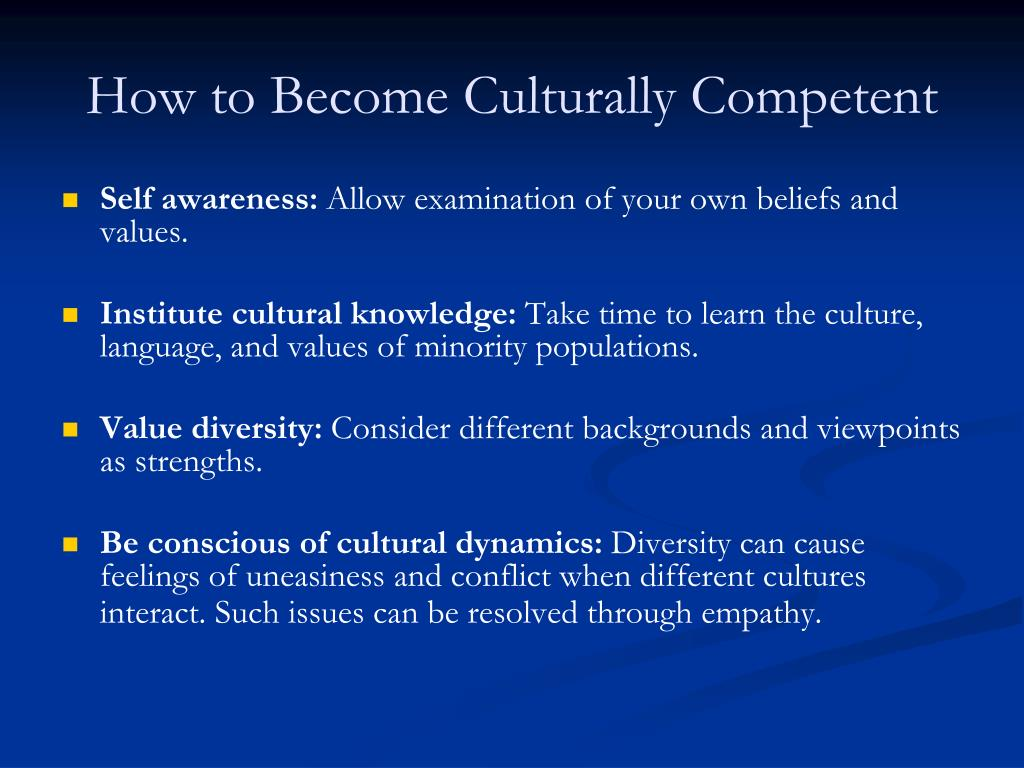 How to Become Culturally Competent