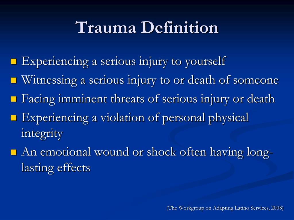 Trauma Definition