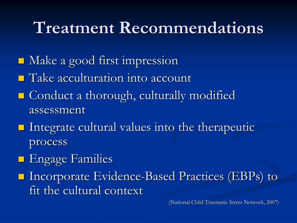 Treatment Recommendations