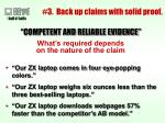 3 back up claims with solid proof22