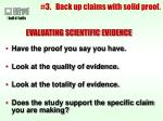 3 back up claims with solid proof24