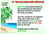 3 back up claims with solid proof25