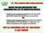5 use caution with endorsements39