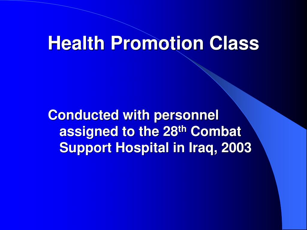 Health Promotion Class