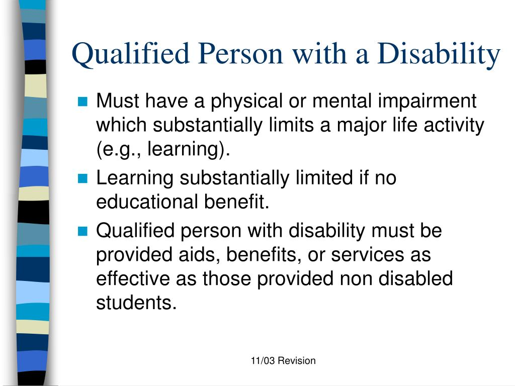 Qualified Person with a Disability